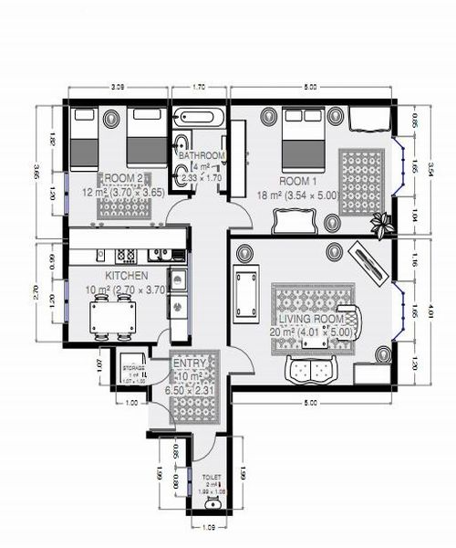 Floor Plan for Le  Latin : Charm, Elegance, Comfort, Latin Quarter/Left Bank